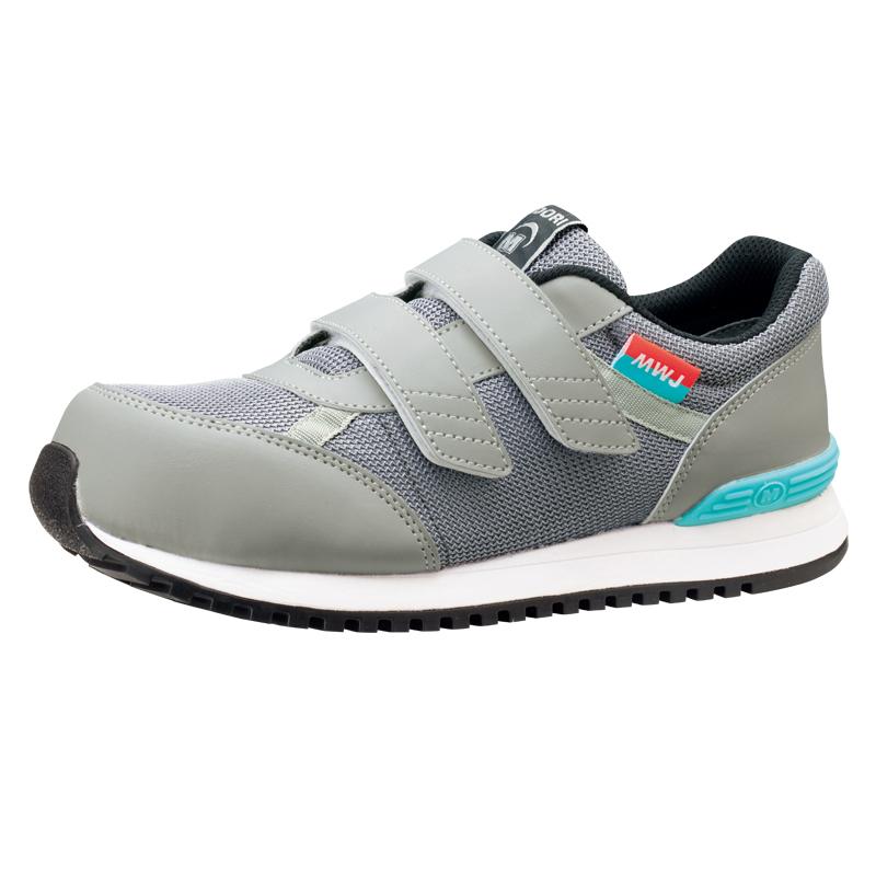 MWJ-115グレイ 女性にもフィットする安全作業靴