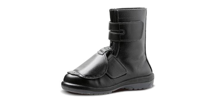 合成ゴム2層底ラバーテック長編上マジックタイプ安全靴の甲プロテクタ付き「RT735甲プロ」