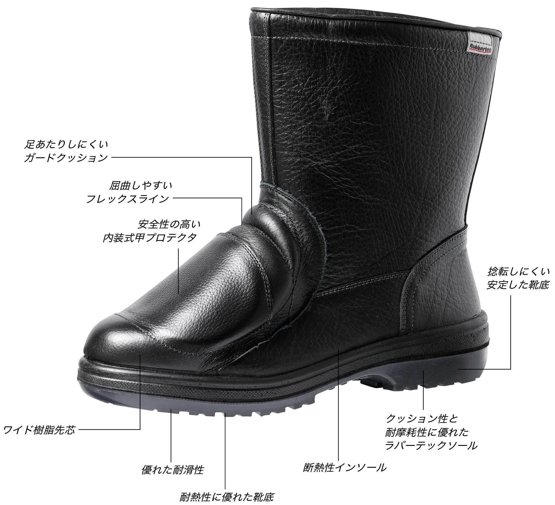内装式の甲プロテクタを採用した耐熱半長靴安全靴【RT940甲プロ内装N】新発売